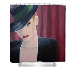 On Stage Shower Curtain by Donna Blackhall