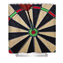 On Target Bullseye Shower Curtain by Garry Gay