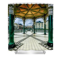 Shower Curtain featuring the photograph On The Bandstand by Chris Lord