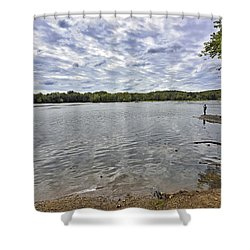 On The Banks Of The Potomac River Shower Curtain