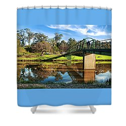 Shower Curtain featuring the photograph On The Banks Of The River By Kaye Menner by Kaye Menner