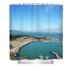 On The Bay Shower Curtain