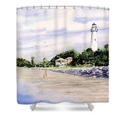 On The Beach At St. Simon's Island Shower Curtain