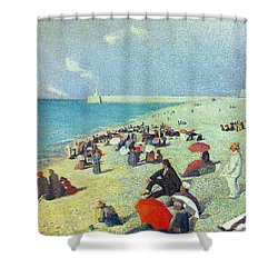 On The Beach Shower Curtain by Leon Pourtau