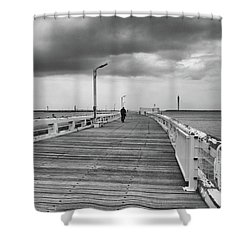 On The Boardwalk 2 Shower Curtain