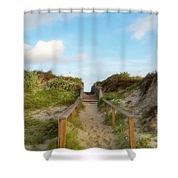On The Boardwalk Shower Curtain