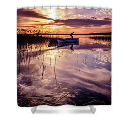 Shower Curtain featuring the photograph On The Boat by Okan YILMAZ