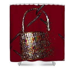 On The Brink Of Disaster  Shower Curtain by Natalie Ortiz