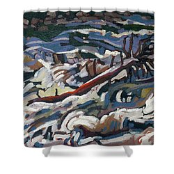 On The Brink Of Grande Chute Shower Curtain
