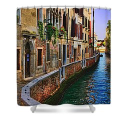 On The Canal-venice Shower Curtain by Tom Prendergast