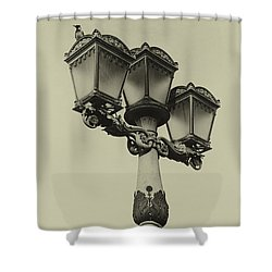 On The Chain Bridge Shower Curtain by John Hoey