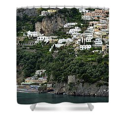 On The Coastal Road Shower Curtain