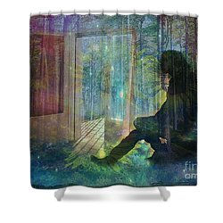 On The Edge Of Summerland 2015 Shower Curtain