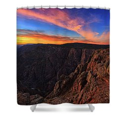 Shower Curtain featuring the photograph On The Edge by Rick Furmanek