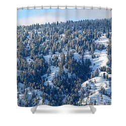 Shower Curtain featuring the photograph On The Far Side by Will Borden