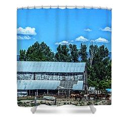 On The Farm Shower Curtain by Billie-Jo Miller