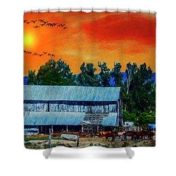 On The Farm II Shower Curtain by Billie-Jo Miller
