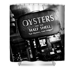 On The Half Shell - Bw Shower Curtain