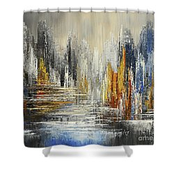 On The Hills Of Dream Shower Curtain by Tatiana Iliina