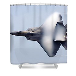 On The Infinite Highway Shower Curtain by Mitch Cat