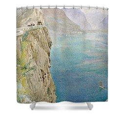 On The Italian Coast Shower Curtain by Harry Goodwin