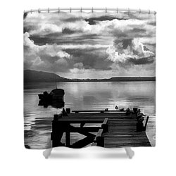 On The Lakes Shower Curtain