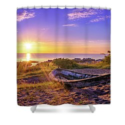Shower Curtain featuring the photograph On The Last Shore by Dmytro Korol