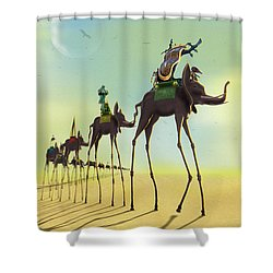 On The Move 2 Shower Curtain