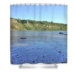 On The North Saskatchewan River Shower Curtain
