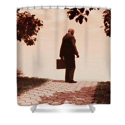 On The Path To Nowhere Shower Curtain