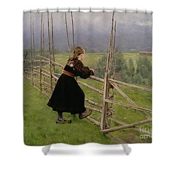 On The Plain Shower Curtain by Karl Fredrick Nordstrom