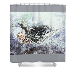 Shower Curtain featuring the photograph On The Pond by Nareeta Martin