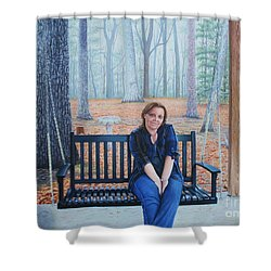 On The Porch Swing Shower Curtain