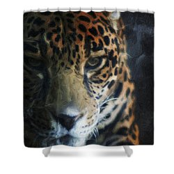 On The Prowl Shower Curtain by Trish Tritz