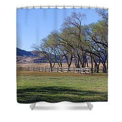 Shower Curtain featuring the photograph On The Ranch by Ely Arsha