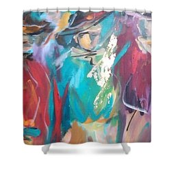On The Ranch Shower Curtain by Heather Roddy