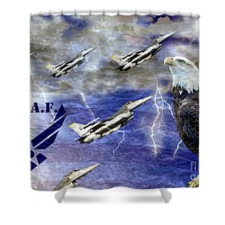On The Rise Two Shower Curtain