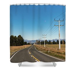 Shower Curtain featuring the photograph On The Road by Gary Eason
