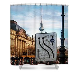 On The Road In Berlin Shower Curtain