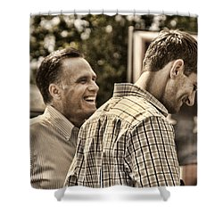 On The Road-mitt Romney Shower Curtain by Joann Vitali
