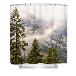 Shower Curtain featuring the photograph On The Road To Devil's Postpile by Janis Knight