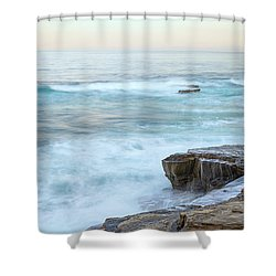 On The Rocks Shower Curtain by Joseph S Giacalone