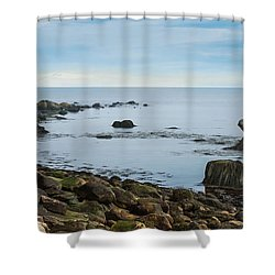 Shower Curtain featuring the photograph On The Rocks by Robin-Lee Vieira