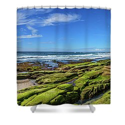 Shower Curtain featuring the photograph On The Rocky Coast by Peter Tellone