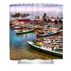On The Shore Shower Curtain by Charuhas Images