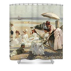 On The Shores Of Bognor Regis Shower Curtain by Alexander M Rossi