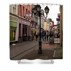 On The Street In Cork Shower Curtain by Rae Tucker