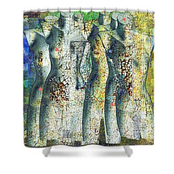 On The Sunny Side Of The Street Shower Curtain