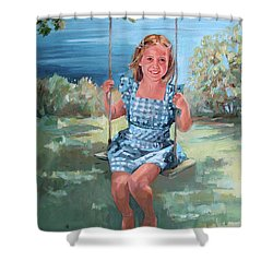 On The Swing Shower Curtain