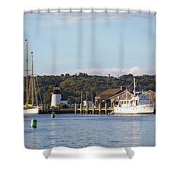 On The Waterfront Mystic Ct Shower Curtain